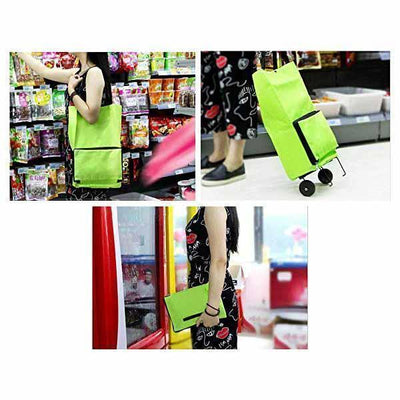Ihrtrade Portable Foldable Shopping Cart