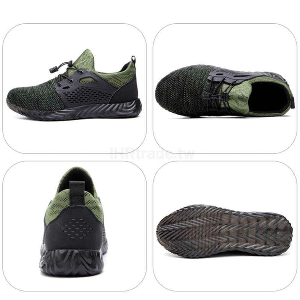 IHRtrade Outdoor Resistant Steel Toe Shoes Mens, Indestructible Work Safety Toe Shoes, Lightweight Breathable Construction Sneakers