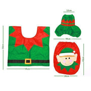 Ihrtrade Christmas Toilet Seat Cover (1 Set)