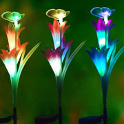 Ihrtrade Artificial Lily Solar Garden Stake Lights (1 Pack of 4 Lilies) | ihrtrade.tw