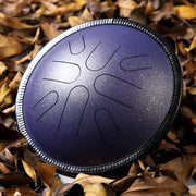 HLURU® Carbon Steel Tongue Drum 10 Inches 8 Notes Japanese Folk Mode Handpan Drum Travel Drum,Colored Contact Lenses