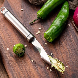 Ihrtrade Stainless Steel Chili Corer Peppers Seed Remover