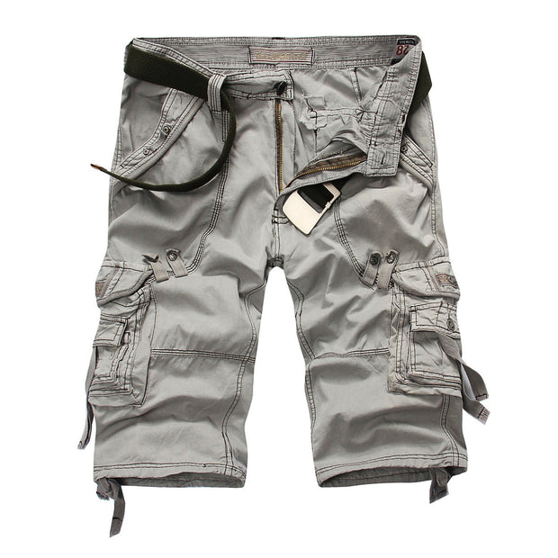 Ihrtrade - Washed Soft Cotton Cloth Men Cargo Tactical Shorts Plus Size (5 Colors),USB C Charger