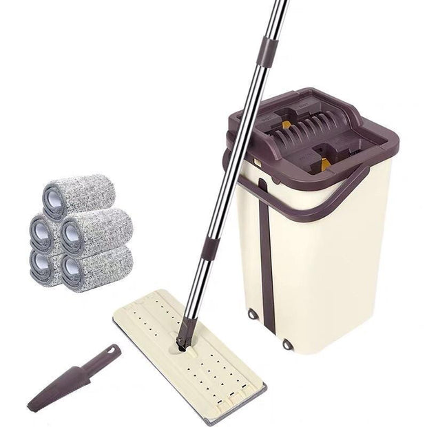 The lightweight and ergonomic design is less labor intensive than traditional mops
