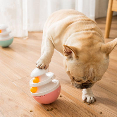 Ihrtrade Adjustable Leaking Hole Dog Feeder Toy (2 colors & 2 sizes)