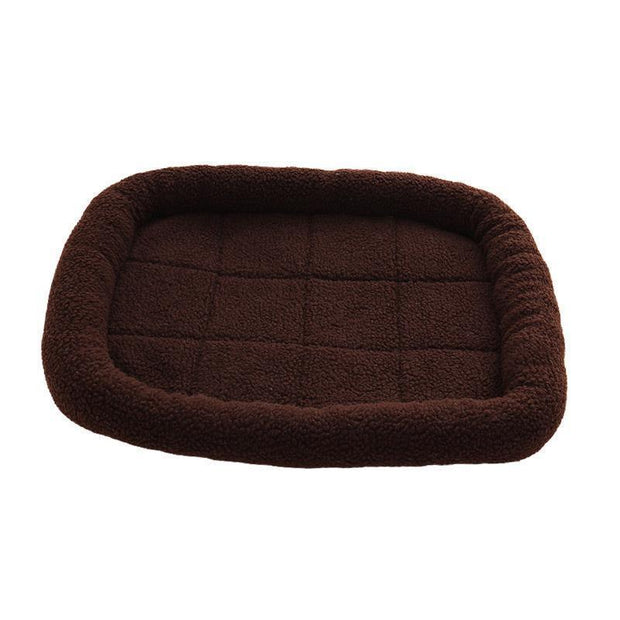 Ihrtrade Adult And Puppy Shag Square Dog Bed (5 Colors & 3 Sizes)