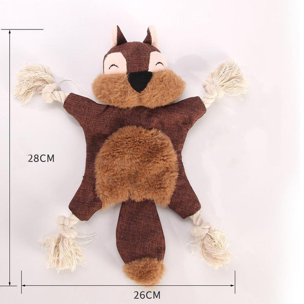 Ihrtrade Animal Shape Dog Biting Stuffed Toy (3 colors)
