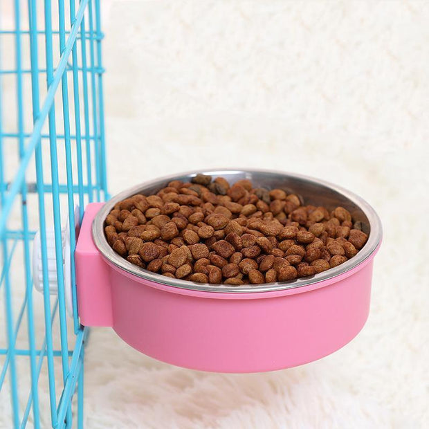 Ihrtrade Candy Color Feeding Cage Hanging Pet Bowl (3 colors & 2 sizes)