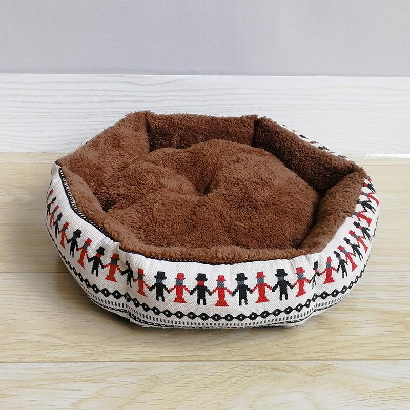Ihrtrade Canvas Puppy Kitten Winter Detachable Bed (2 colors & 3 sizes)