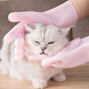 Ihrtrade Cat Bath Hair Removal Tool Massage Glove (2 colors)