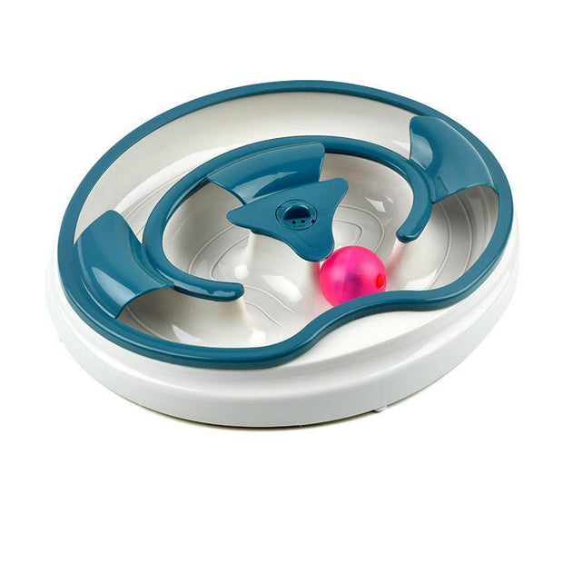 Ihrtrade Cat Turntable Track Acousto-optic Ball Toy (3 colors)