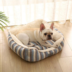 Ihrtrade Chenille Home Striped Cotton Linen Kennel