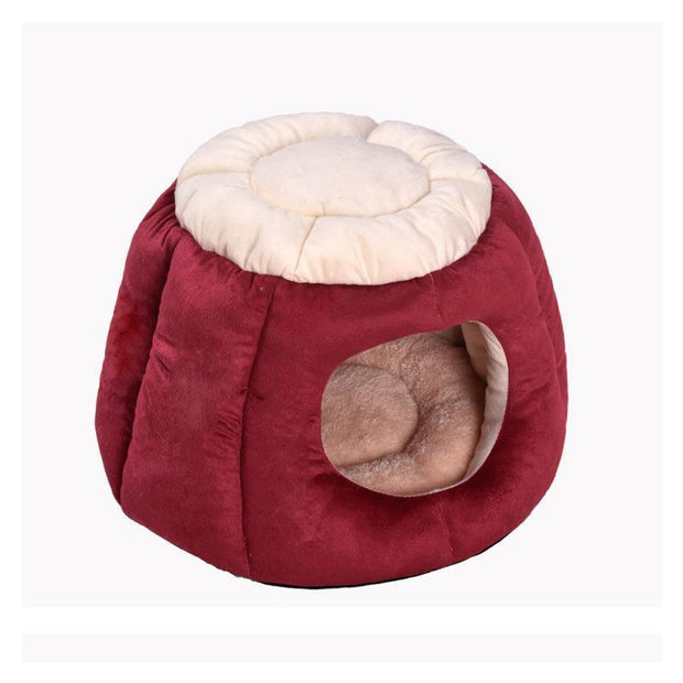 Ihrtrade Collapsible Winter Stump Shape Cat House (2 colors)