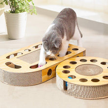 Load image into Gallery viewer, Ihrtrade Corrugated Board Cat Scratching Toy With Ball (4 Types)
