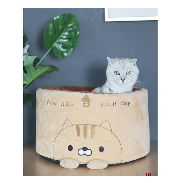 Ihrtrade Creative Lovely Cat Cylindrical Nest