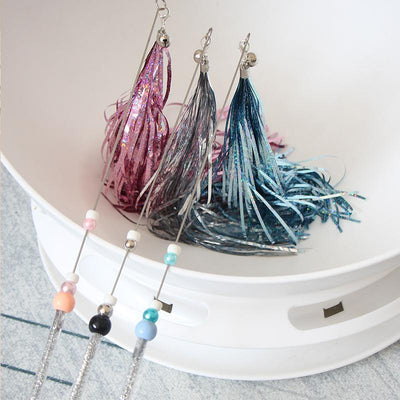 Ihrtrade Creative Sequin Tassel Cat Teaser Wand