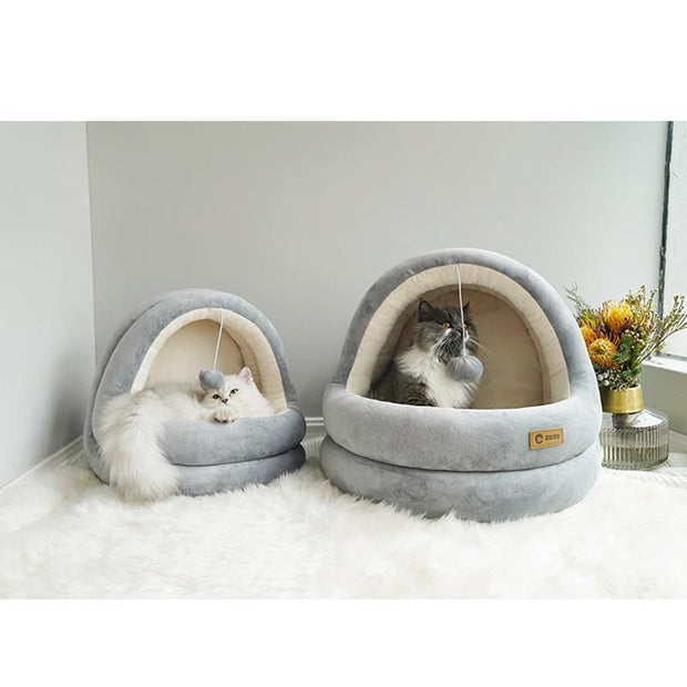 Ihrtrade Deluxe Washable Cat Warm House (2 colors & 2 sizes)
