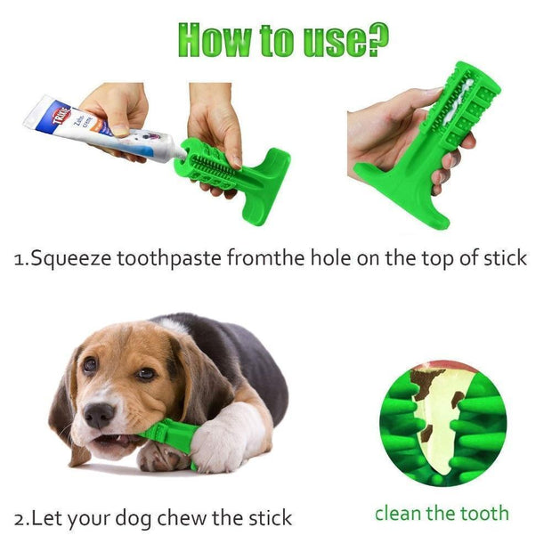 Ihrtrade Toothbrush Pet Molar Tooth Cleaner Brushing Stick Doggy Puppy Dental Care (2 colors)