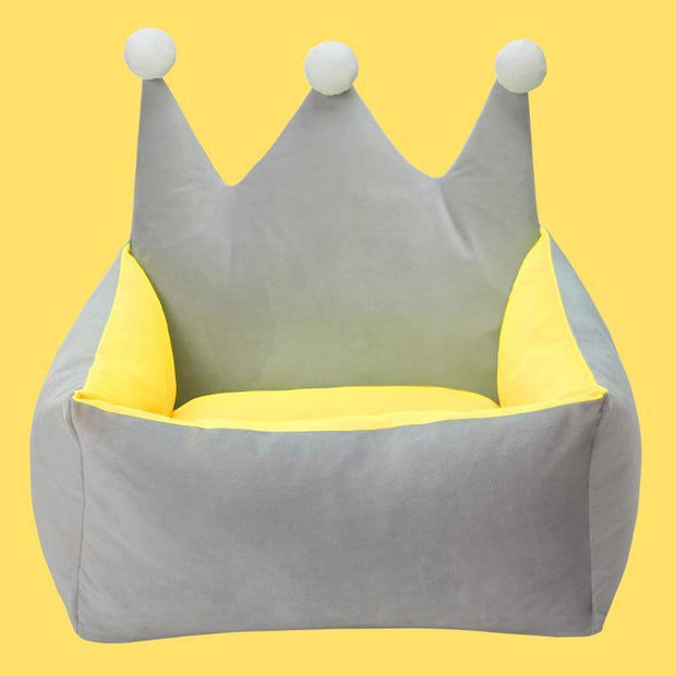 Ihrtrade Dog Bed Cute Crown Removable Kennel