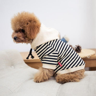 Ihrtrade Dog Fashion Striped Daily Hoodie (2 colors & 8 sizes)