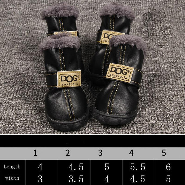 Ihrtrade Dog Velvet Winter Non-slip Shoes Boots (5 colors & 5 sizes)