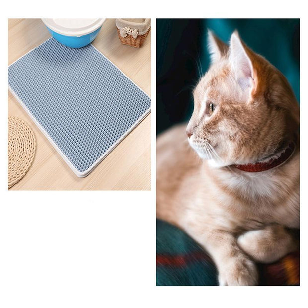 Ihrtrade EVA Double-Layer Cat Litter Mat (5 colors & 4 sizes)