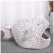 Ihrtrade Fish Shape Resilient Cat House (2 sizes)