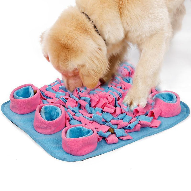 Ihrtrade Fleece Dog Stress Relieving Anti Choke Bowl