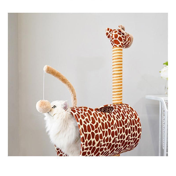 Ihrtrade Giraffe Pet Climbing Frame Cat Tree