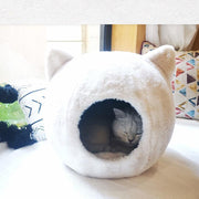 Ihrtrade Head Shape House Winter Cozy Cat Nest