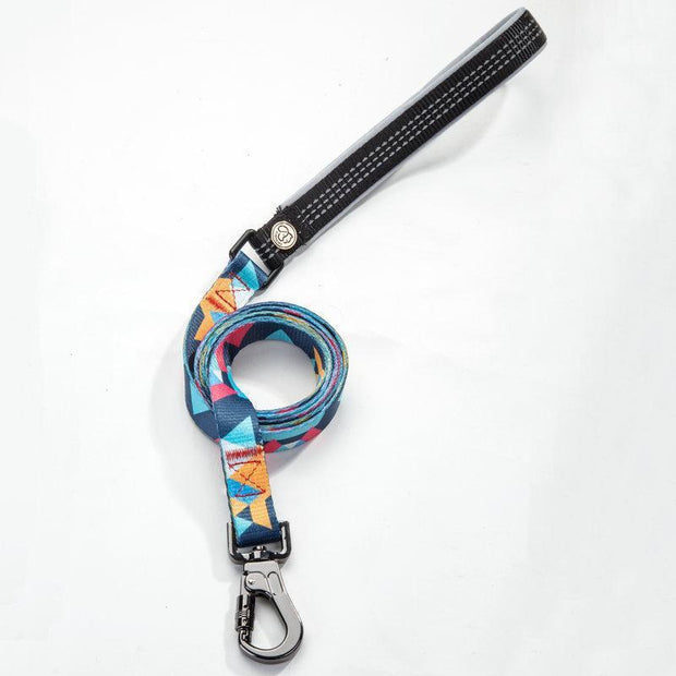 Ihrtrade Random Color Dog's Collar And Leash (3 sizes)