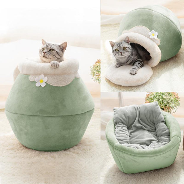 Ihrtrade Honeypot Winter Thick Cat Nest (3 colors & 3 sizes)