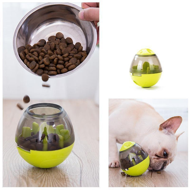 Ihrtrade Interactive Dog Bowl Funny Pet Leakage Food Container (2 colors)
