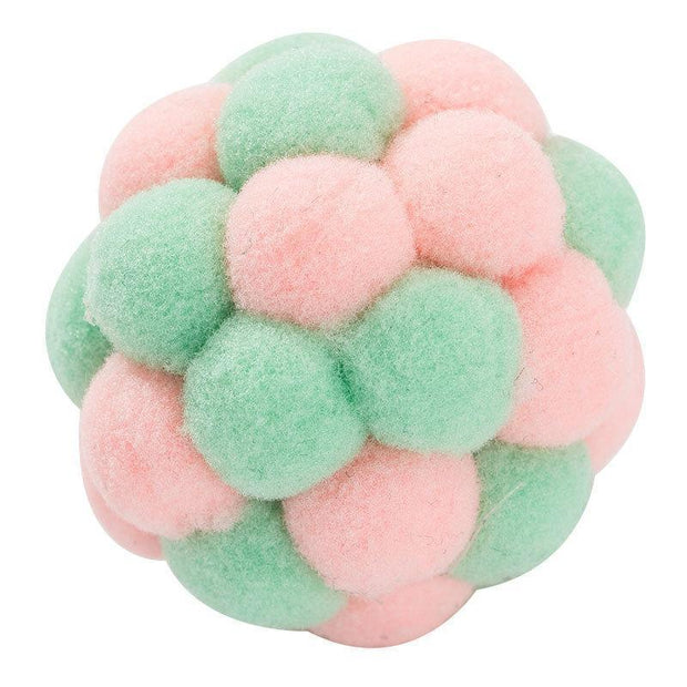 Ihrtrade Interesting Pet Cat Toy Colorful Handmade Plush Ball (2 colors)