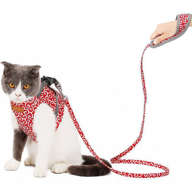 Ihrtrade Japan Style Cat Harness Leash (3 colors & 2 sizes)