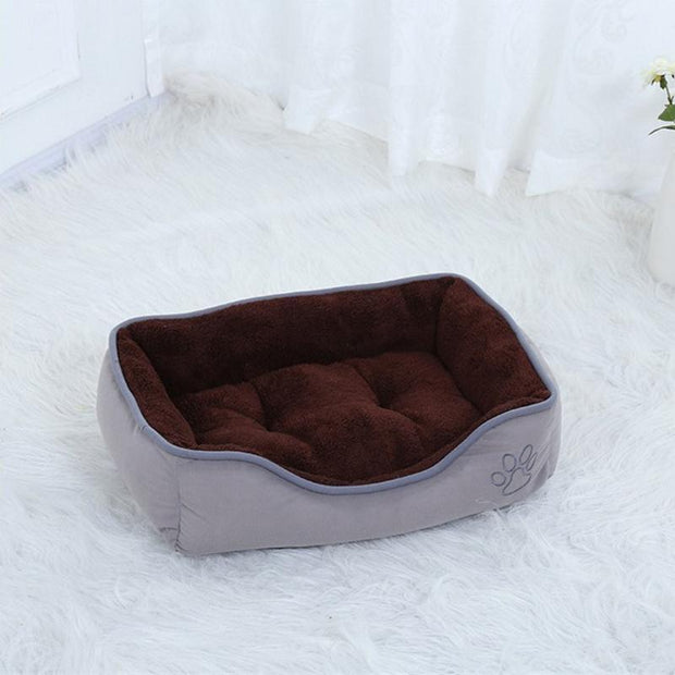 Ihrtrade Large Dog Kennel Square Solid Lounger Mat (2 colors & 4 sizes)