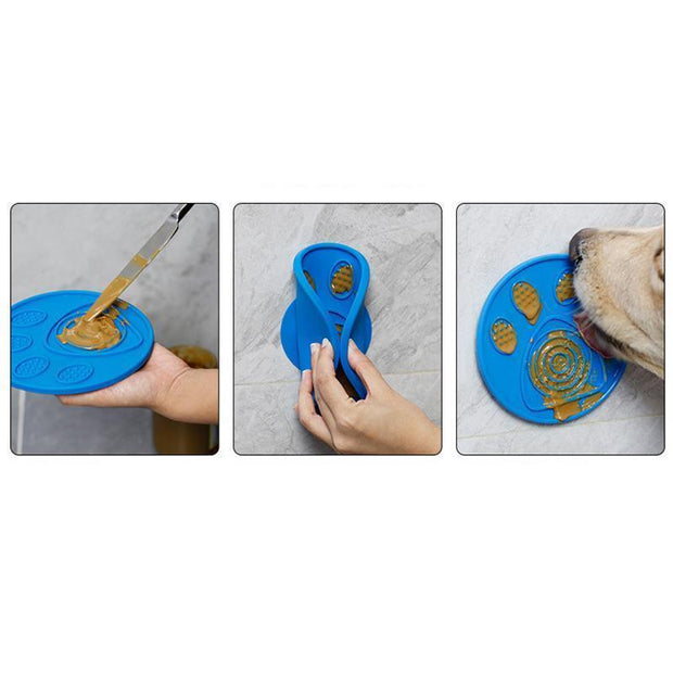 Ihrtrade Multifunction Suction Cup Wall Mounted Pet Lick Mat (2 colors))