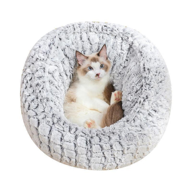Ihrtrade New Adjustable Cat/Dog Kennel With Velvet Pet Mat (4 colors & 4 sizes)