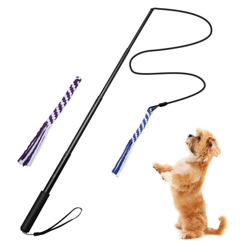 Ihrtrade New Telescopic Dog Teaser Training Stick (3 colors & 2 sizes)