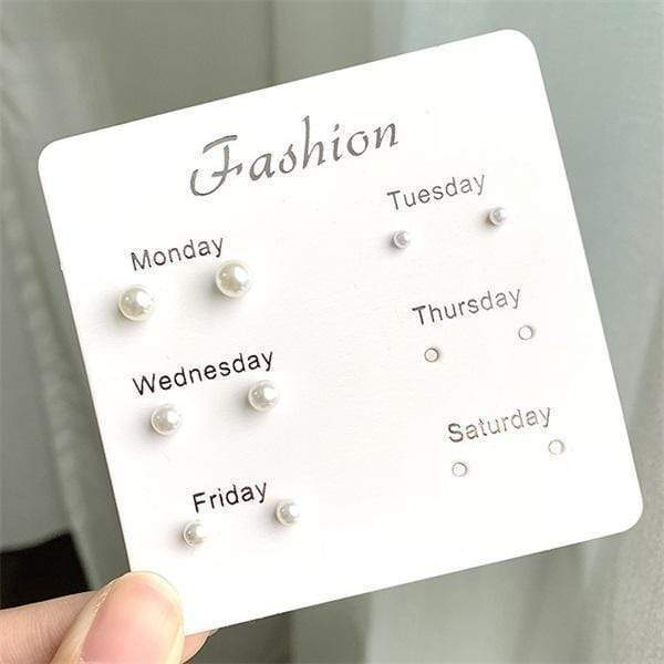 Ihrtrade 60 Pairs Fashion Stud Earrings