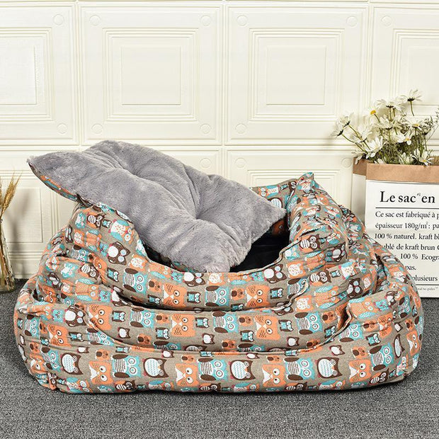 Ihrtrade Owl Dying Winter Thermal Pet Bed (3 Sizes)