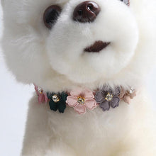 Load image into Gallery viewer, Ihrtrade PU Flower Design Dog Neck Strap (4 colors & 2 sizes)