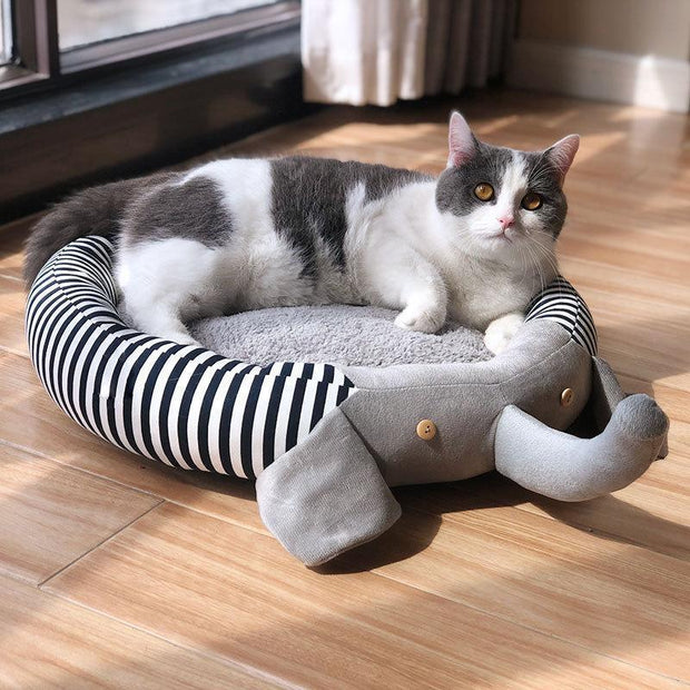Ihrtrade Pad Removable Stripe Elephant Pet Bed (2 colors & 3 sizes)
