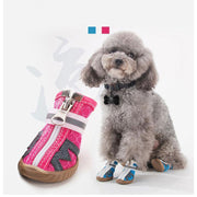 Ihrtrade Pet Dog Shoes Summer Breathable  4pcs/set Dog's Boots (10 colors & 5 sizes)