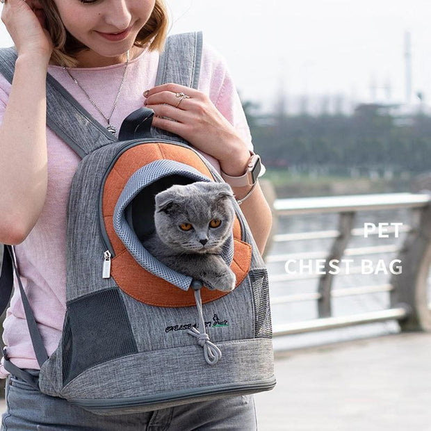 Ihrtrade Pet Outcrop Backpack Portable Dog Carrier (3 colors & 3 sizes)