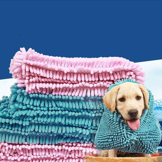 Ihrtrade Pet Quick-drying Bath Towel (4 colors & 3 sizes)
