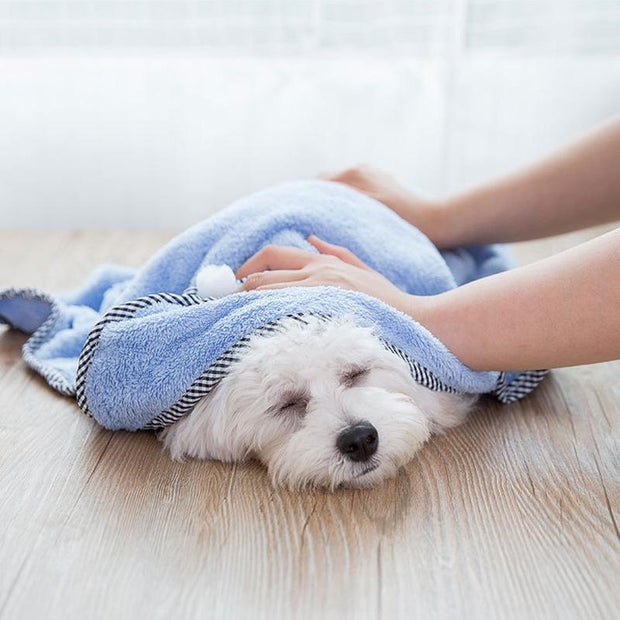 Ihrtrade Pet's Skin-friendly Bath Towel (5 colors & 3 sizes)