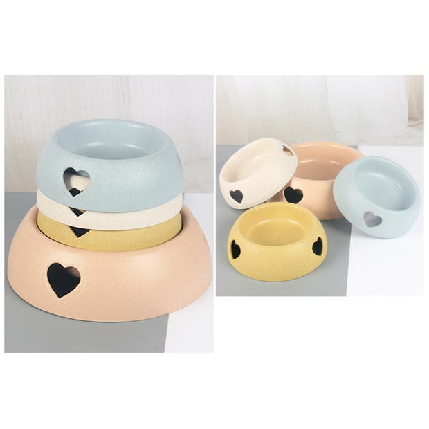 Ihrtrade Plastic Love Dog Feeder Two Bowls (2 sizes)