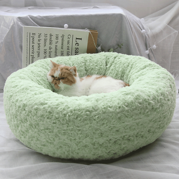 Ihrtrade Plush Cat Dog Bed Autumn Winter Fluffy Bed (3 colors & 3 sizes)