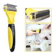 Ihrtrade Professional Stainless Double-sided Pet Comb Brush